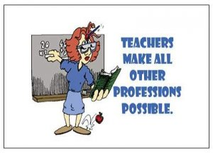 """Teachers Make All Other Professions Possible Magnet - 3.43"""" x 1.93"""""""
