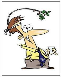 "Mistletoe Man Magnet - 3.43"" x 1.93"""