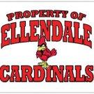 "Property of Ellendale Cardinals - Postcards 5.47"" x 4.21"""