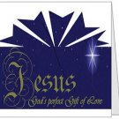 Jesus, God's Perfect Gift of Love Folded Note Card