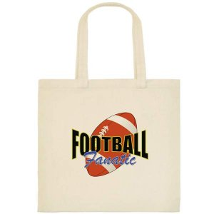 Football Fanatic Tote Bag - Printing on one side