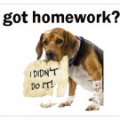 got homework? Mousepad