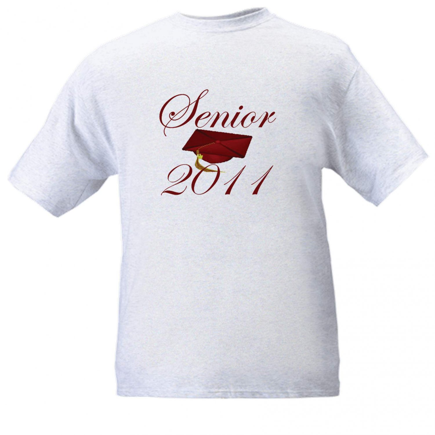 Senior 2014 Ash Grey T-Shirt with maroon mortar board