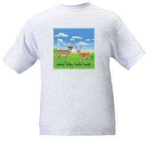 "SALE - Hunting T-Shirt Ash Grey - ""Whoa! Killer Tattoo, Dude!"