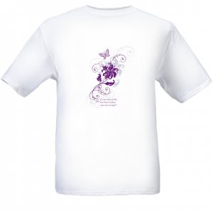 If You Want To Fly, You Have To Flap Your Own Wings-Butterfly Design White T-Shirt