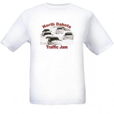 North Dakota Traffic Jam - White t-shirt - Size Sm - XL