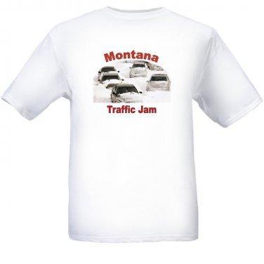Montana Traffic Jam - White t-shirt - Size Sm - XL