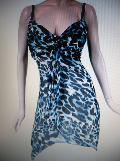 Womens Jr/miss club wear tunic style dress top NWT M-L