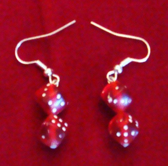 Red D6 Dice Earrings