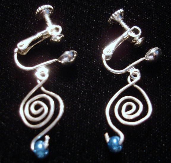 Silver Celtic Swirl Clip-on earrings