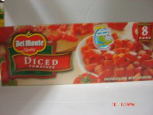 Tomatoes,  Diced    8 cans ( 0.91 lbs., 411 g. each )  pack