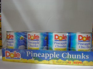 Pineapple, Chunk Style  8 cans (1.25 lbs., 568 g. each) pack