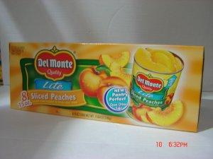 Peaches, Slices Lite    8 cans (0.94lbs., 425g. each) pack