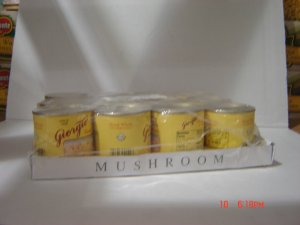 Mushrooms, Sliced Whole  12 cans (0.25lbs.,114g. ea.) pack