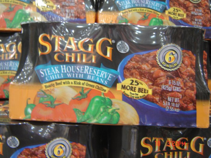 Chili, with Beans   6 cans (0.94 lbs., 425 g. each) pack