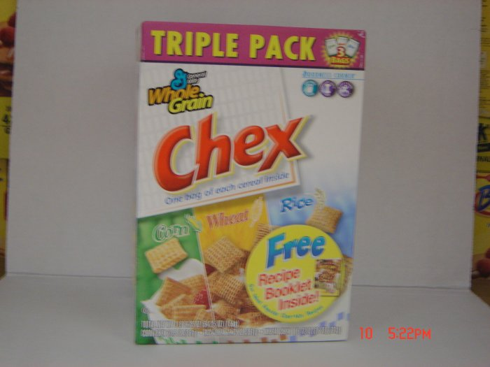 Cereal, Chex  3 Bag (1.13 lbs., 513 g. each) Variety Box