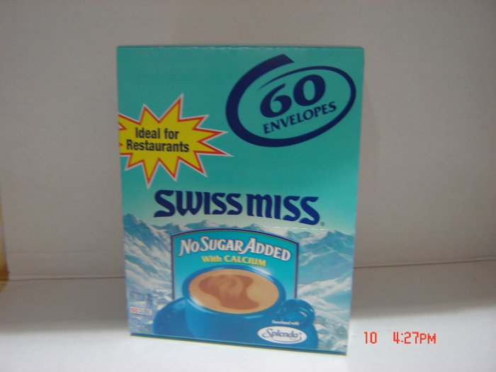 Drink Mix, Hot Chocolate, Artificial Sugar, 60 Serving (0.034lbs.,16g.ea.) Pack