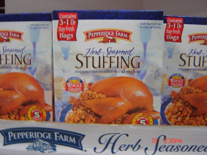Stuffing, Herb, 3 Bag (1.0 lbs., 454 g. each) Box