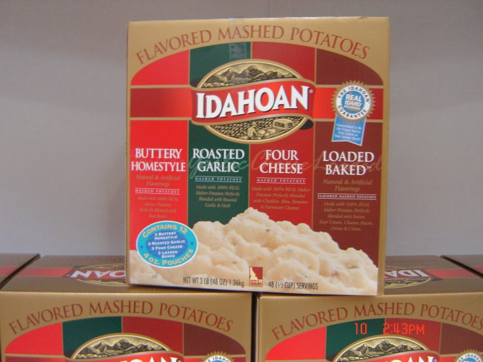 Potato, Mashed (Puree) 12 (0.25lbs.,113g. each) Pack Variety