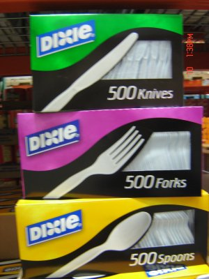 Knives, Plastic 500 Count Bag