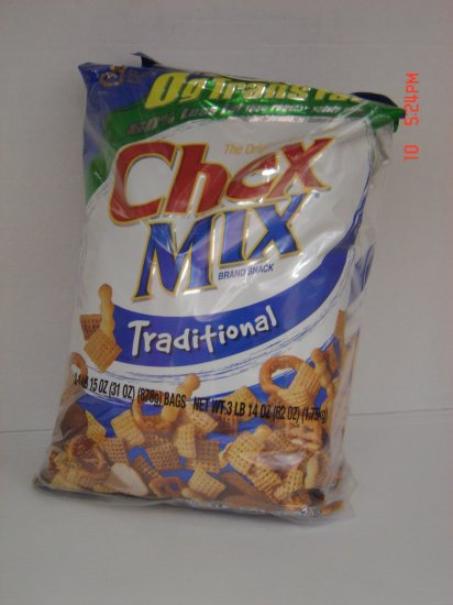 Snack Mix, Chex Traditional 2 Bag (1.95lbs.,875g. ea.) Pack