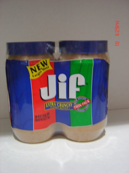 Peanut Butter, Creamy Style  2 Jar (3lbs.,1360g. ea.) Pack