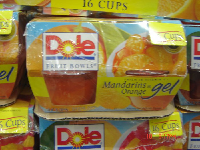 Fruit Cups, 16 Cup (0.07bs.,31g. each) Variety Pack