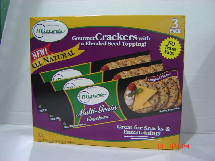 Crackers, Multi-grain Gourmet 3 Pack (0.63lbs.,283g. each)
