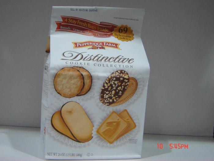 Cookies, Pepperidge Farm, 4 Pack (0.38lbs.,170g. ea.) Variety