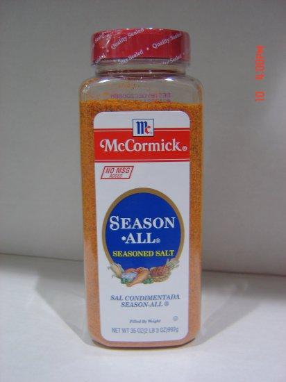 Seasoning, McCormick's Season All  2.2 lbs., 995 gram Bottle