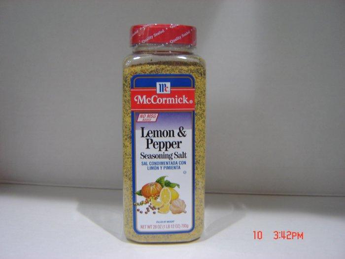 """Pepper-Salt Seasoning, """"Lemon Pepper""""  1.75lbs.,795g. Bottle"""