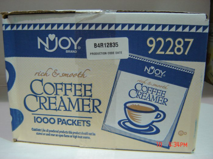 Creamer, Box (5.46 lbs., 2481 g.) of 1000 Single-Serving Packs