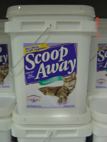"""Cat Litter """"Odor Control""""  38 lbs., 17200 grams Container"""