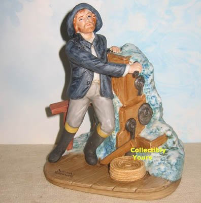 NEW Norman Rockwell Museum BRAVING THE STORM figurine, porcelain, retired