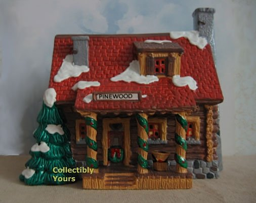 Department 56 Snow Village PINEWOOD LOG CABIN,  51500,  retired in 1994,  MIB
