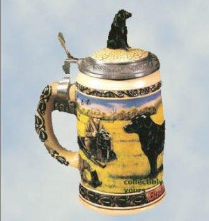 NEW Anheuser Busch BLACK LABRADOR STEIN, CS195,  Budweiser Hunter's Companion,  1993,  MIB
