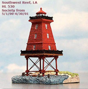 NEW Harbour Lights SOUTHWEST REEF LA, HL530,  Ltd Society