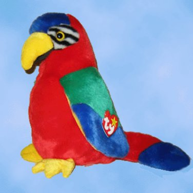 NEW 6 Ty Beanie Buddies JABBER The Parrot,  9326