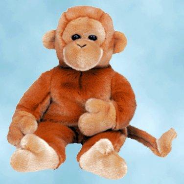 NEW (6) Ty Beanie Buddies BONGO The Monkey,  9312