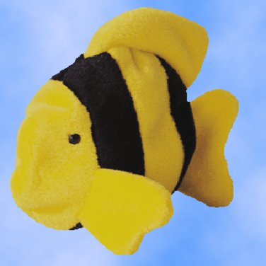 NEW (6) Ty Beanie Buddies BUBBLES The Fish, 9323
