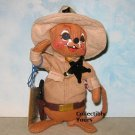 New SHERIFF MOUSE, 9930,7 in, 1992 Annalee Society, Never Displayed