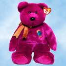 NEW 4 Ty Beanie Buddies MILLENNIUM The Magenta Bear, Year 2000 Edition, 9325,  12""