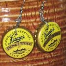 LeinenKugels Hand Fashioned RECYCLED Bottle Cap Earrings