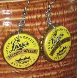 LeinenKugels Hand Fashioned RECYCLED Bottle Cap Earrings