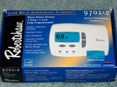 Robertshaw 9701i2 Programmable Thermostat 1 Heat/1 Cool