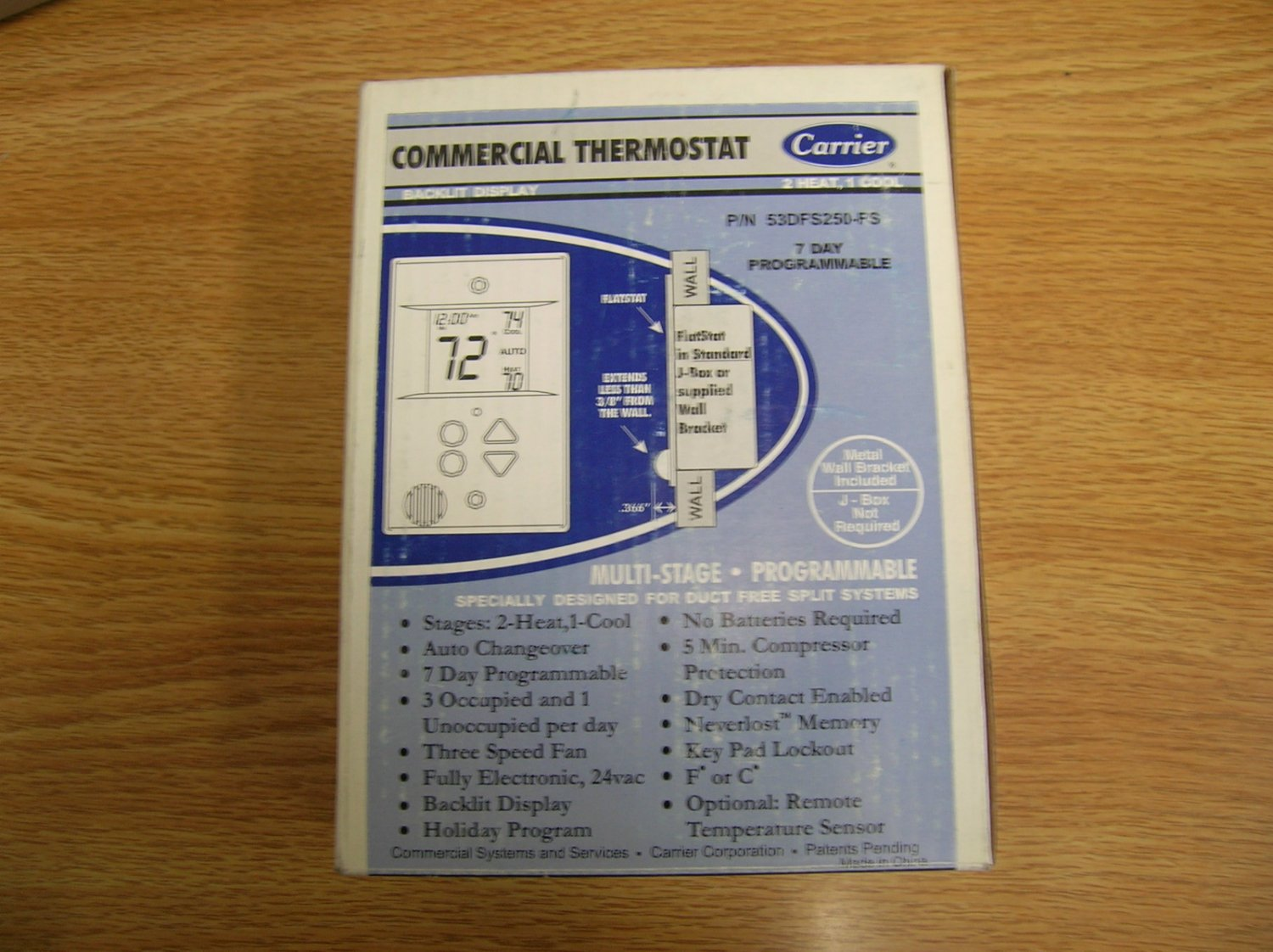 Carrier 53dfs250 Fs Commercial Thermostat Duct Free Split