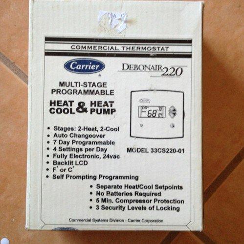 Carrier Debonair 220 Commerical Thermostat 33cs220 01