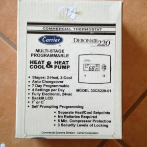 Carrier Debonair 220 Commerical Thermostat 33cs220 01