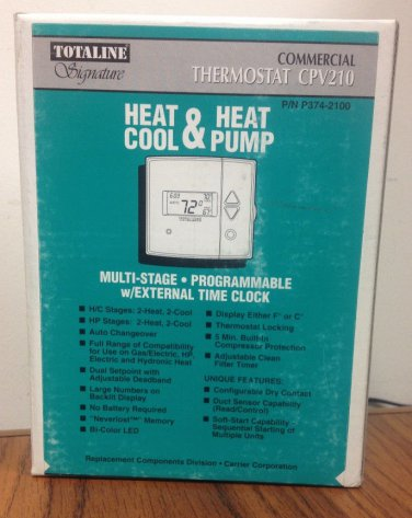 TOTALINE   P374-2100 COMMERCIAL THERMOSTAT  CPV210 2HT 2CL