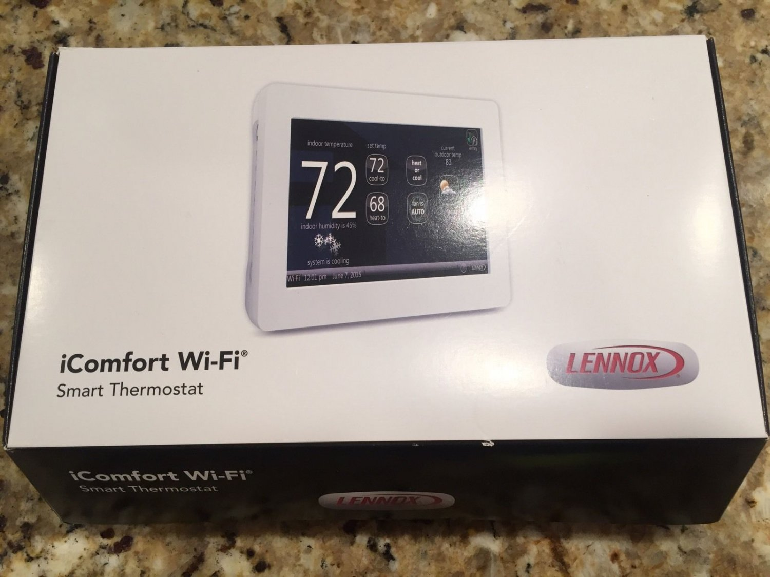 10f81 Lennox Icomfort Touchscreen 10f81 Thermostat With Wifi
